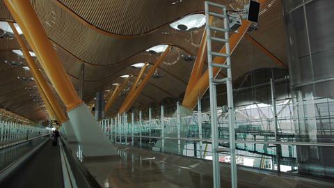 Madrid. Barajas airport Stock Video Footage