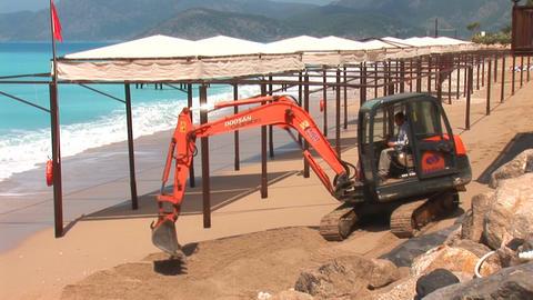 tracked excavator Stock Video Footage