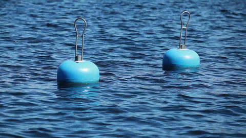 blue buoy Stock Video Footage