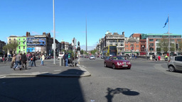 Dublin City Traffic Stock Video Footage