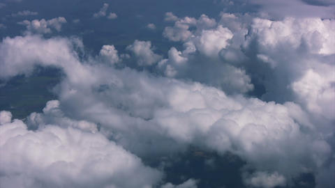 Clouds in the window plane Stock Video Footage