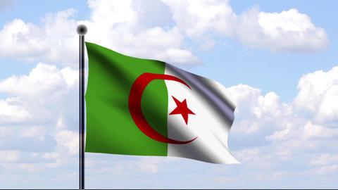 Animated Flag of Algeria / Algerien Stock Video Footage