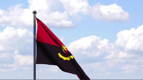 Animated Flag of Angola Stock Video Footage