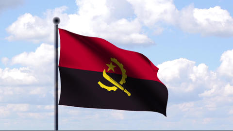 Animated Flag of Angola Stock Video Footage