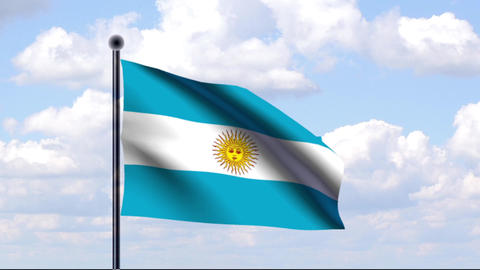 Animated Flag of Argentina / Argentinien Animation