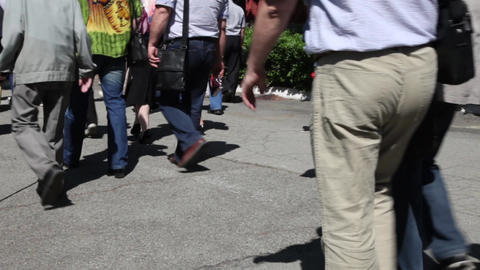 Crowd is on the street Stock Video Footage