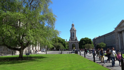 Trinity Collage Dublin 1 Stock Video Footage