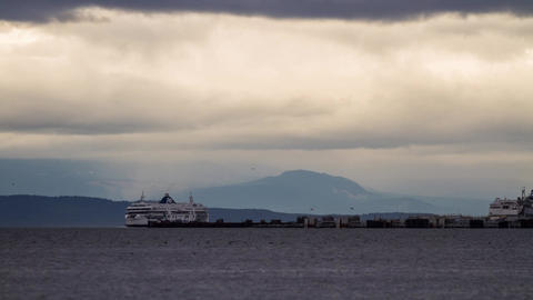BC Ferry taking off and arriving Footage