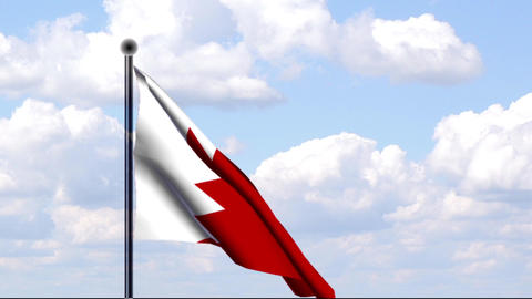 Animierte Flagge von Bahrain / Animated Flag of Ba Stock Video Footage