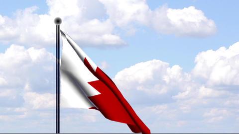 Animierte Flagge von Bahrain / Animated Flag of Ba Stock Video Footage