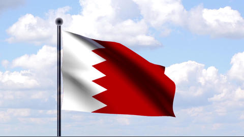 Animierte Flagge von Bahrain / Animated Flag of Ba Animation