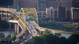 Fort Duquesne Bridge Stock Video Footage