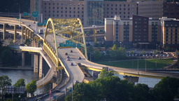 Fort Duquesne Bridge Stock Video Footage