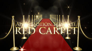 Red Carpet Apple Motion Template