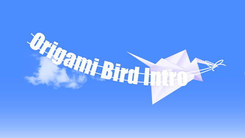 Origami Birds Apple Motion Template