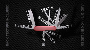 Swiss Knife Promo After Effects Template