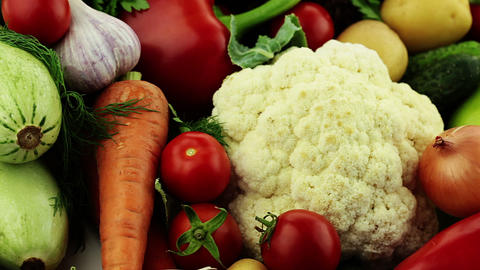 Vegetables. Close-up Stock Video Footage