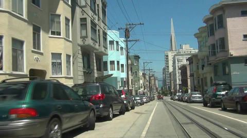 San Francisco Cable Car -2 Stock Video Footage