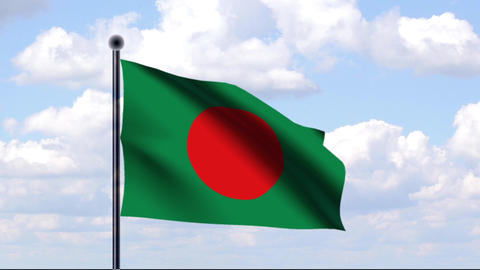 Animated Flag of Bangladesh / Animierte Flagge von Animation