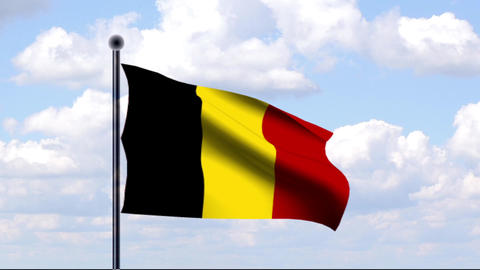 Animated Flag of Belgium / Animierte Flagge von Be Animation