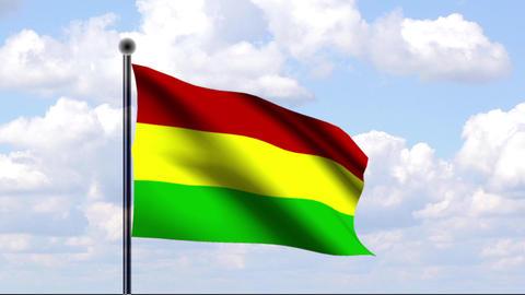 Animated Flag of Bolivia / Animierte Flagge von Bo Stock Video Footage