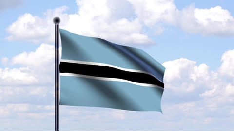 Animated Flag of Botswana / Animierte Flagge von B Animation