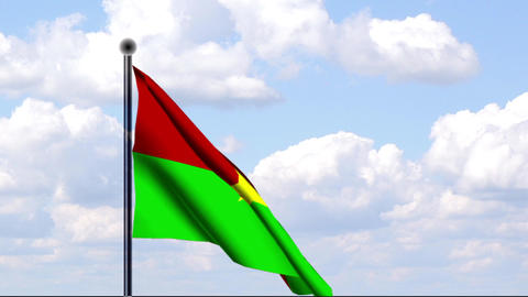 Animated Flag of Burkina Faso Stock Video Footage