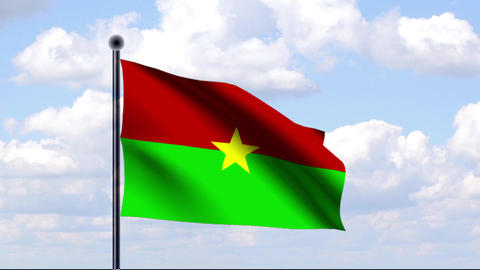 Animated Flag of Burkina Faso Animation