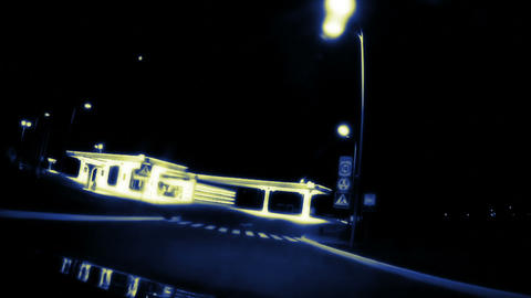 Night gas station Stock Video Footage