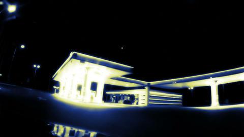Night gas station Footage