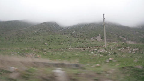mountain road view from the car Stock Video Footage