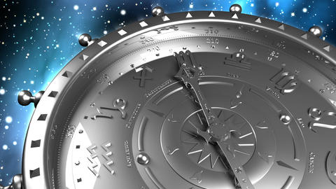 Silver Zodiac Machine stock footage
