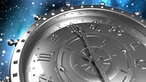 Silver Zodiac Machine Stock Video Footage