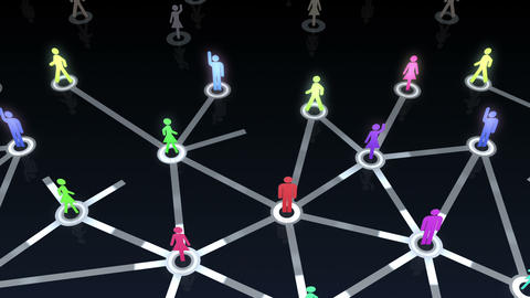 Social Network Connection A 1b 5 HD Stock Video Footage