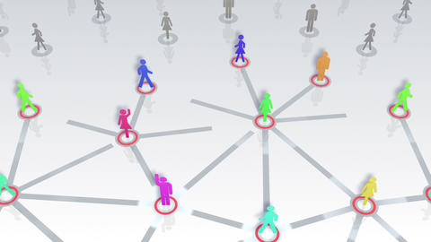Social Network Connection A 1w 5 HD Stock Video Footage