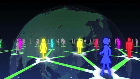 Social Network Connection A 2b 5 HD Animation