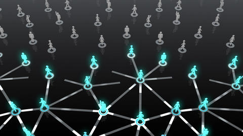 Social Network Connection A 3b 6 HD Stock Video Footage