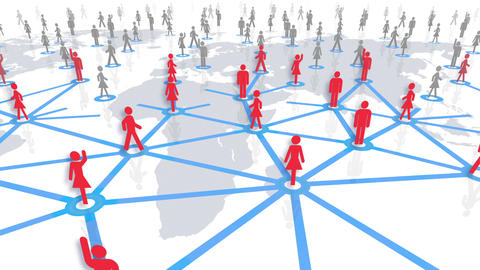 Social Network Connection A 4w 6 HD Animation