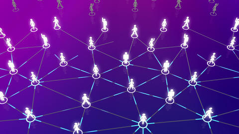 Social Network Connection A 5b 6 HD Stock Video Footage