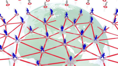 Social Network Connection A 5w 6 HD Animation