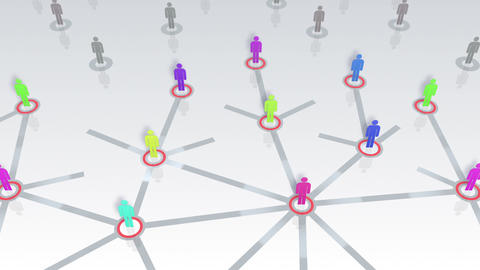 Social Network Connection B 1w 5 HD Stock Video Footage