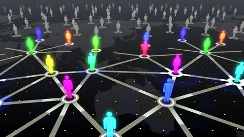 Social Network Connection B 4b 5 HD Stock Video Footage