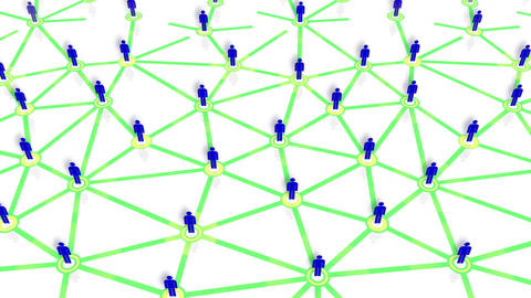 Social Network Connection B 5w 6 HD Stock Video Footage