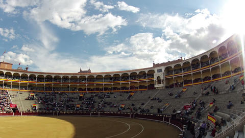 Before the bullfight. Timelapse Footage