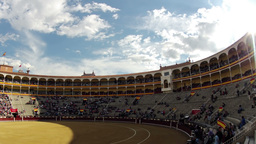Before the bullfight. Timelapse Stock Video Footage