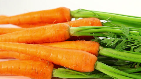 Raw Carrots With Haulm stock footage
