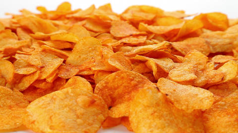 Potato chips Stock Video Footage
