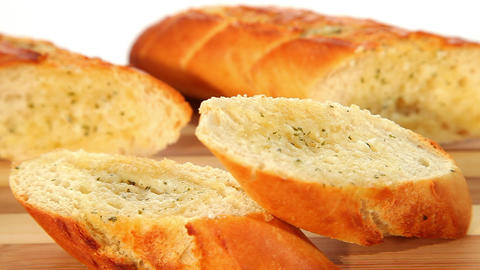 Garlic Bread stock footage