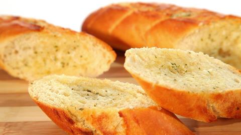 Garlic bread Stock Video Footage