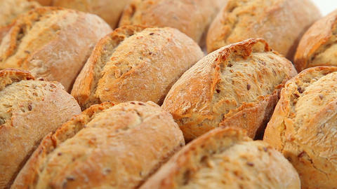Roll, bread Stock Video Footage